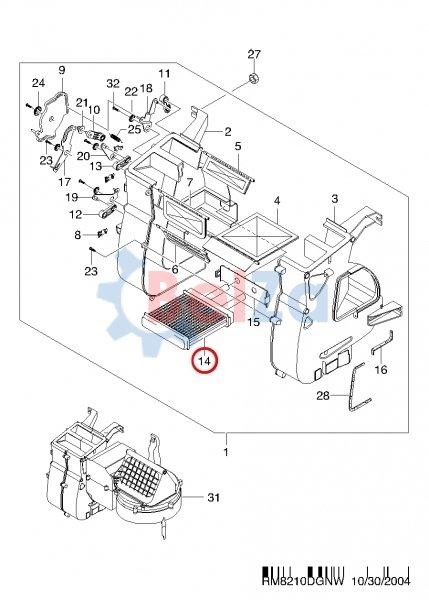 КОНДИЦИОНЕР ВОЗДУХА для Chevrolet MATIZ + SPARK (M100) EUR, Год выпуска 2002.