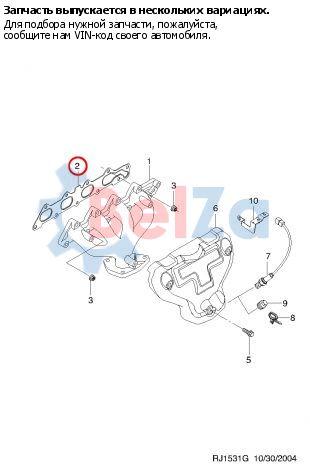 96414578 Прокладка выпускного коллектора для CHEVROLET LACETTI.