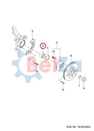 Как заменить подшипник ступицы шевроле лачетти
